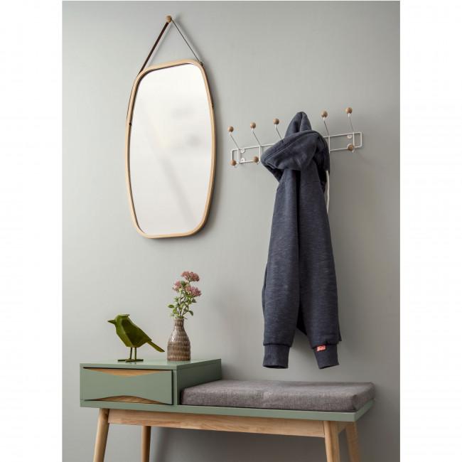 Buoyant - Banc en bois et tissu avec tiroir