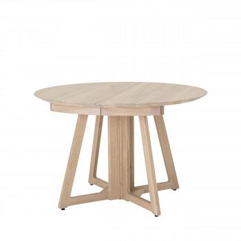 Owen - Table à manger extensible en bois 118-168-218x118cm