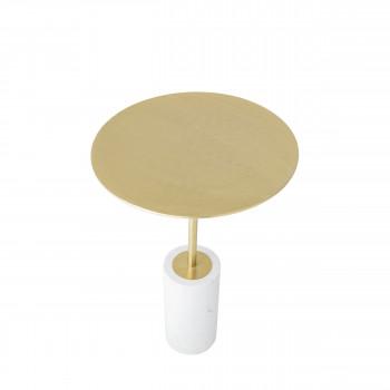 Paisley - Table d'appoint en marbre et métal ø40cm