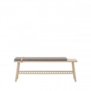 Pedro - Banc en bois avec rangement 120cm