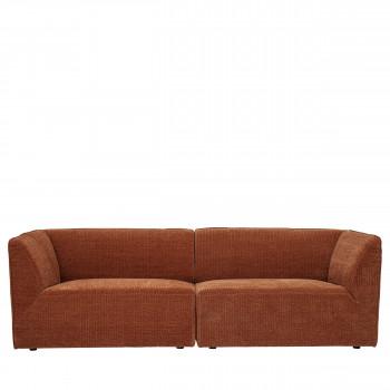 Petra - Canapé 4 places en tissu côtelé