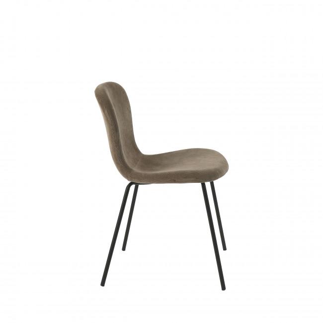 Daia - 2 chaises en velours pieds métal