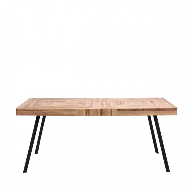 Pamenang - Table en métal et teck recyclé 180x90cm