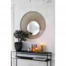 Bakari - Miroir rond en rotin ⌀80 cm