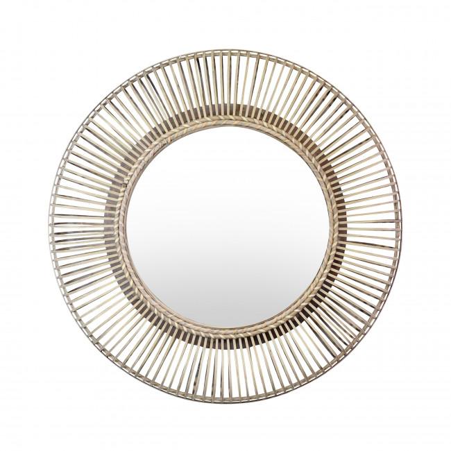Buenos - Miroir rond en rotin