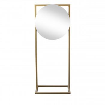 Totem - Miroir sur pied en métal