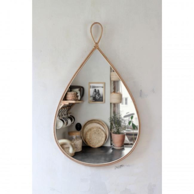 Trinita - Miroir goutte en rotin