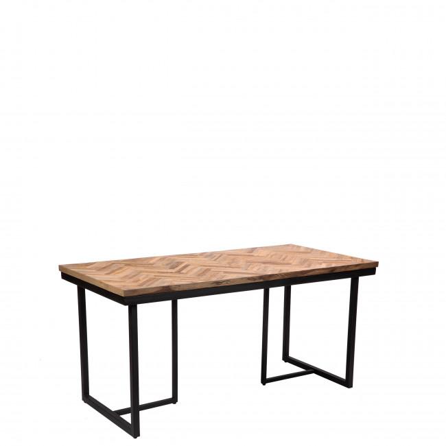 Bobokan - Table en métal et teck recyclé 160x80cm