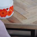 Bobokan - 3 tables basses gigognes carrées en métal et teck recyclé