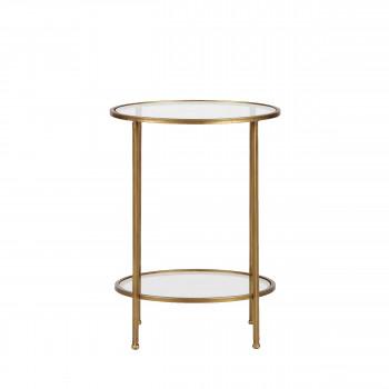 Goddess - Table d'appoint en métal et verre ø45,5cm