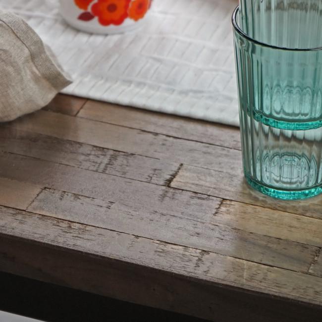 Ranggo - Table en métal et teck recyclé 180x90cm