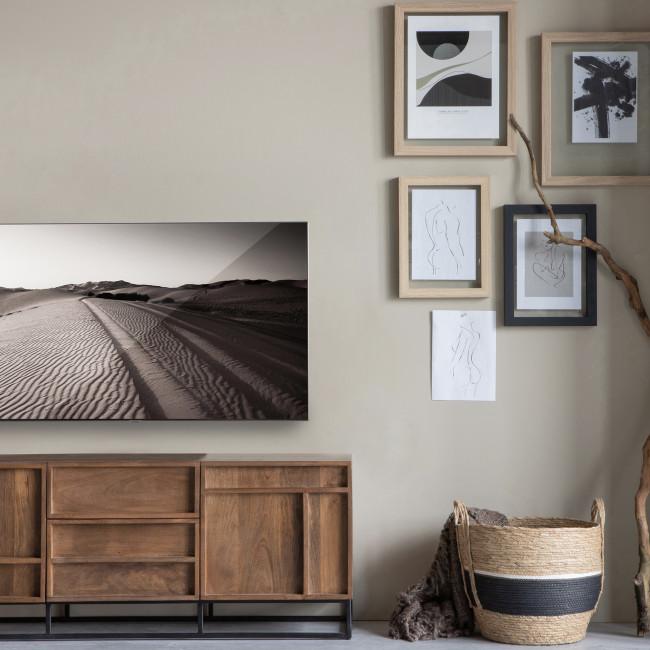 Forrest - Meuble TV 2 portes 2 tiroirs en bois
