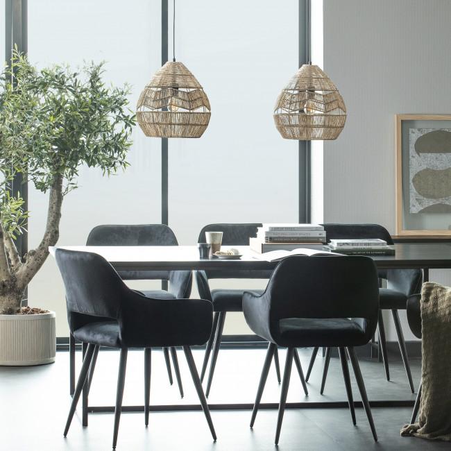 James - Table à manger en bois et métal 200x90cm