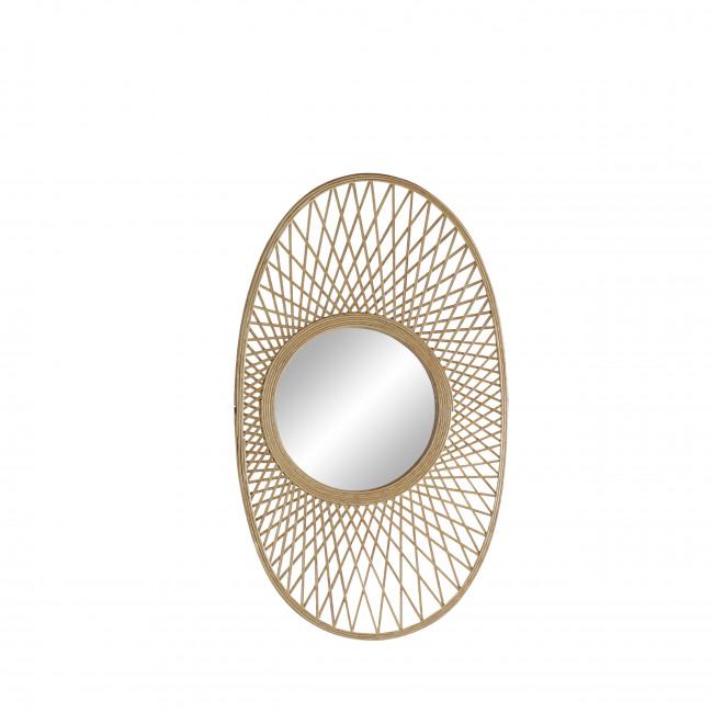 Ca Lo - Miroir ovale en bambou