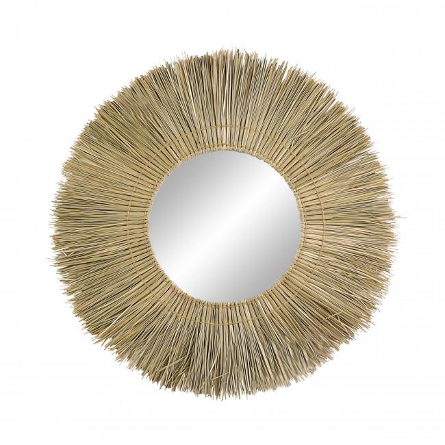 Guinea - Miroir en jonc de mer ø70cm