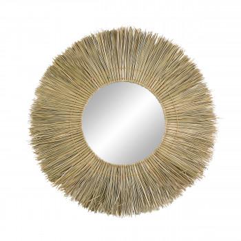 Guinea - Miroir en jonc de mer ø100cm