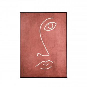Visage - Toile imprimée encadrée 100x140cm