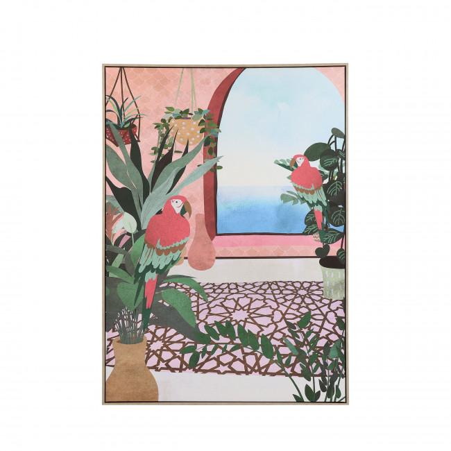 Perroquet - Toile imprimée encadrée 100x140cm