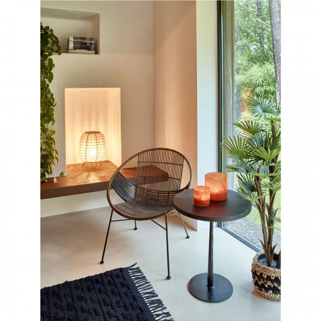 Bistro - Table de bistrot ronde en bois et métal ø50cm