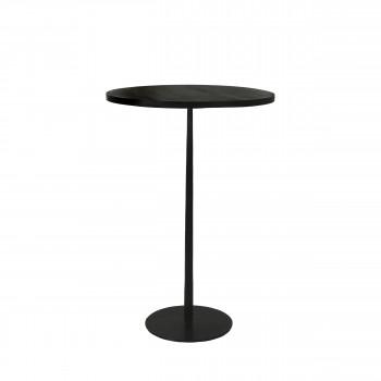 Bistro - Table de bar ronde en bois et métal ø70cm