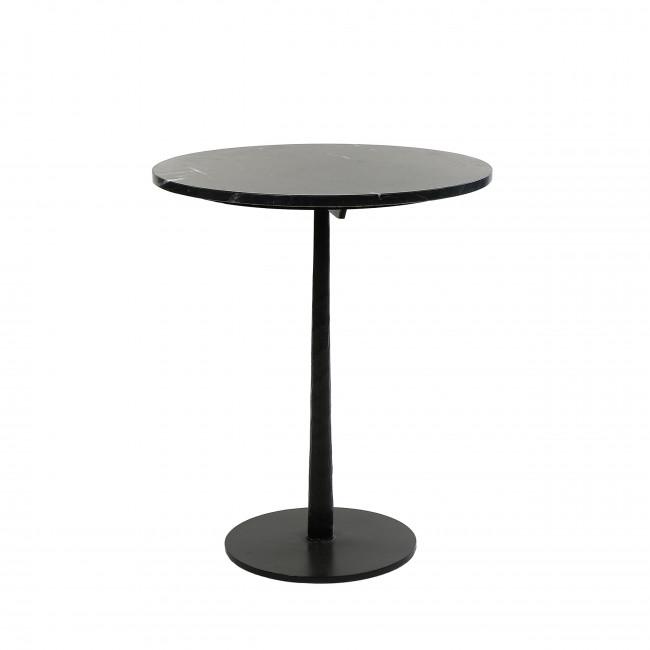 Bistro - Table de bistrot ronde en marbre et métal ø50cm