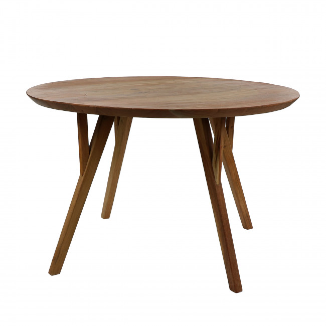 Hopper - Table à manger ronde en bois ø120cm