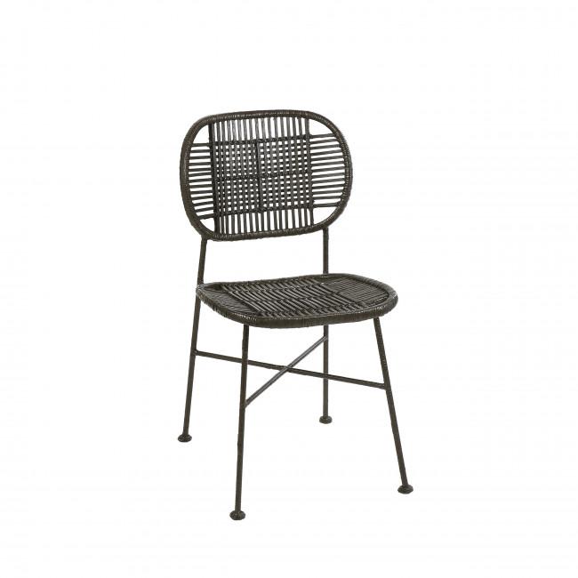Geneva - Chaise en rotin et métal