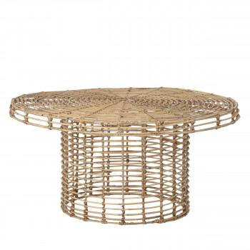 Abena - Table basse ronde en rotin ø80cm