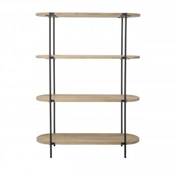 Cathelin - Étagère en bois et métal 160x120cm