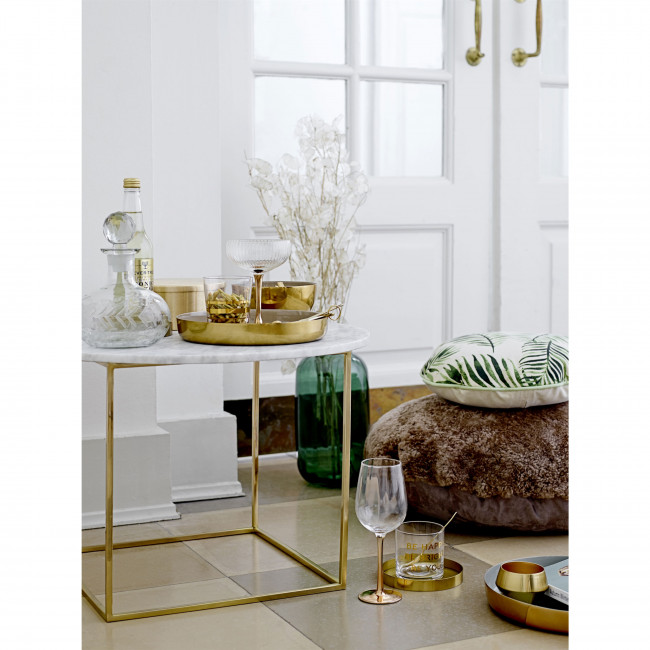 Eva - Table basse ronde en marbre et métal ø60cm