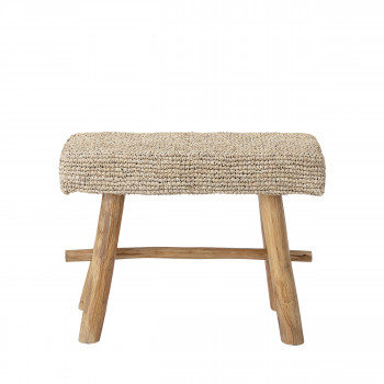 Harry - Banc 1 place en bois et fibre naturelle