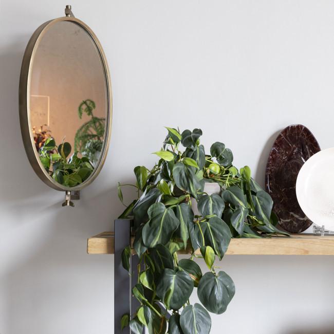 Lara - Miroir ovale en métal