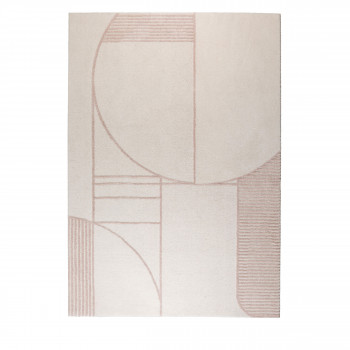 Bliss - Tapis design rectangle en tissu rose