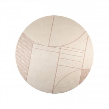 Bliss - Tapis design rond en tissu rose