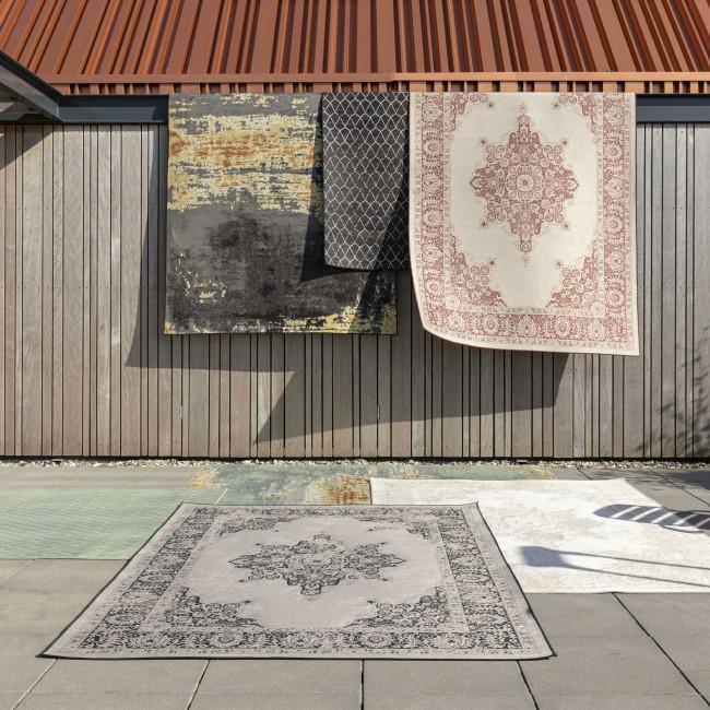 Coventry - Tapis design indoor / outdoor noir et gris