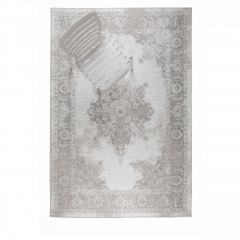 Coventry - Tapis design indoor / outdoor beige et blanc