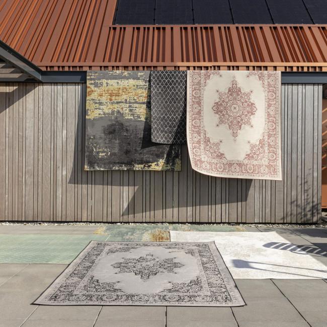 Coventry - Tapis design indoor / outdoor beige et blanc