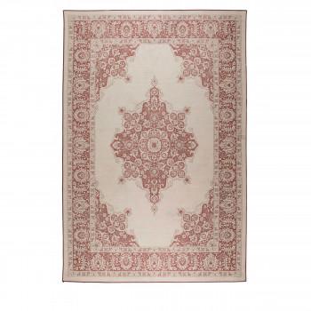 Coventry - Tapis design indoor / outdoor rouge et rose