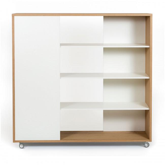 Adala - Étagère à roulettes en bois 150x32cm