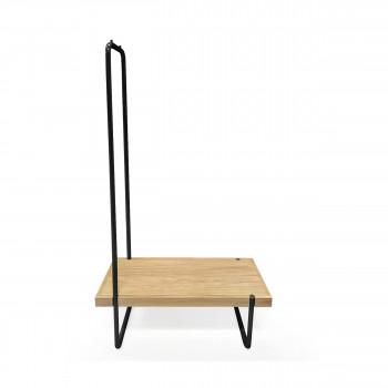Ben - Banc en bois et métal 90x40cm