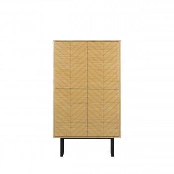 Camden - Buffet haut bois et métal motifs chevrons 90x42cm