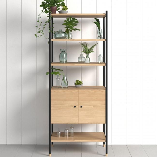 Jugend - Bibliothèque en bois et métal H180 cm