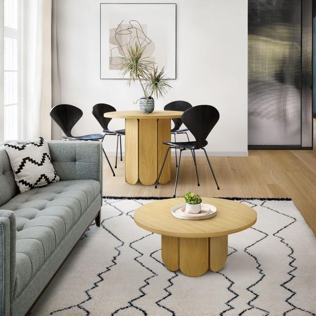 Soft - Table à manger ronde en bois massif ø100cm