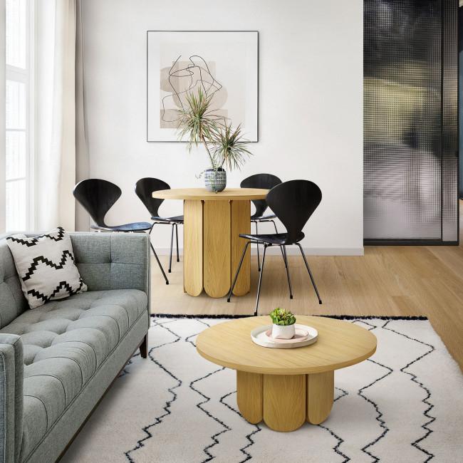 Soft - Table basse ronde en bois massif ø78cm