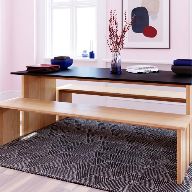 Stripe - Banc scandinave en bois 200x90cm