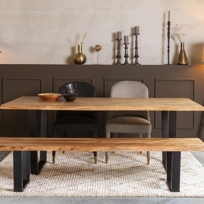 Aka - Banc en bois et métal 180cm