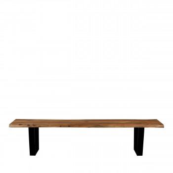 Aka - Banc en bois et métal 200cm