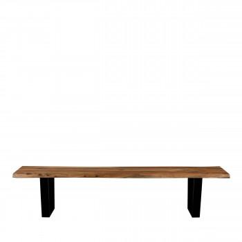 Aka - Banc en bois et métal 220cm