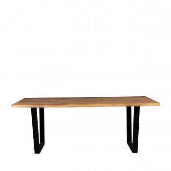 Aka - Table à manger en bois et métal 180x90cm