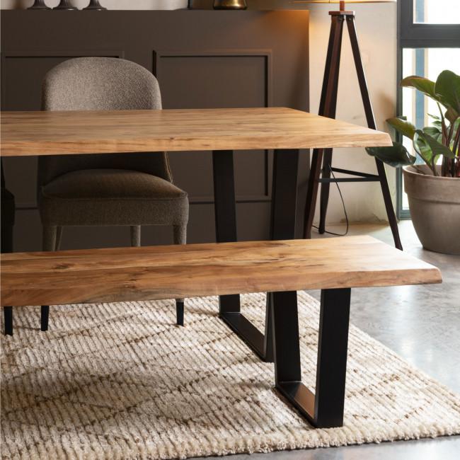 Aka - Table à manger en bois et métal 200x90cm